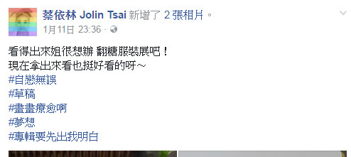 蔡衣林 #Hashtags on Facebook.jpg