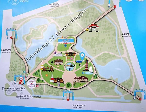 Thailand Tourism Festival TTF Lumphini Park map