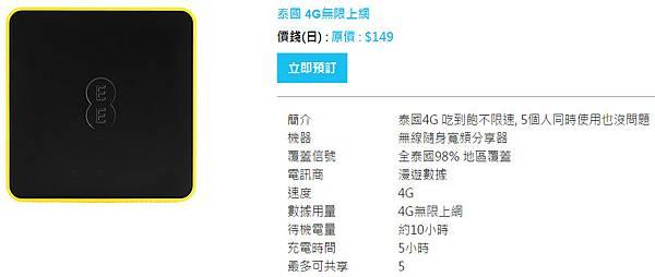 泰國4G無限上網-Wifihero漫遊超人