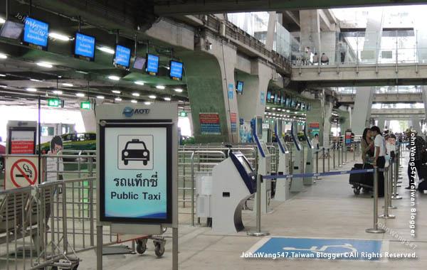 Suvarnabhumi airport曼谷機場搭計程車