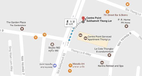 Centre Point Sukhumvit 55 Thong Lor MAP