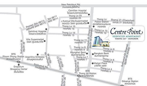 Centre Point Sukhumvit 55 map