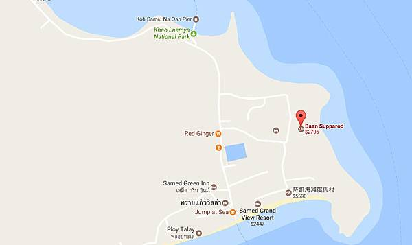 Baan Supparod Resort MAP