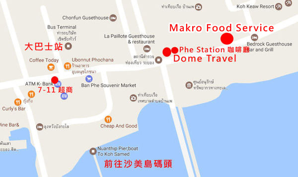 Makro Food Service Ban Phe map
