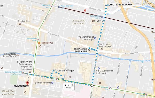HOTEL de BANGKOK Pratunam Market MAP