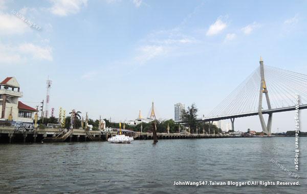 Kanchanaphisek Bridge Chao Phraya river Samut Prakan3.jpg