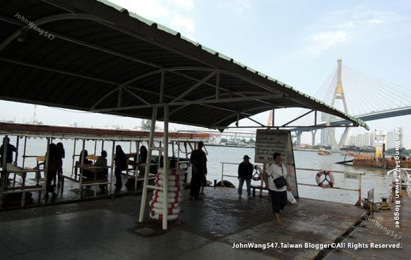 Kanchanaphisek Bridge Chao Phraya river Samut Prakan4.jpg