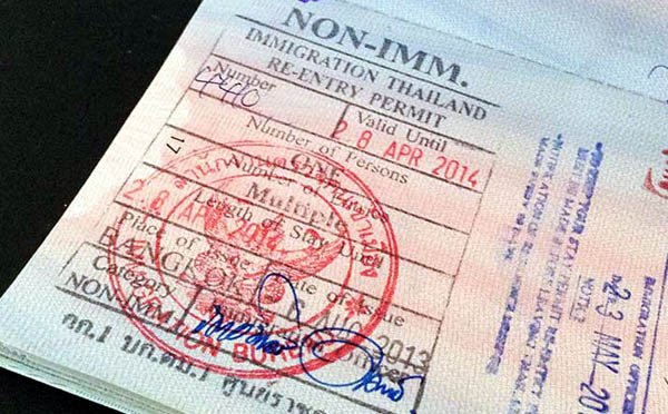 泰國回頭簽Re-Entry Permits