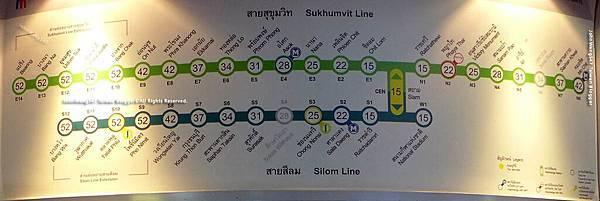 BTS捷運票價表-siam站出發