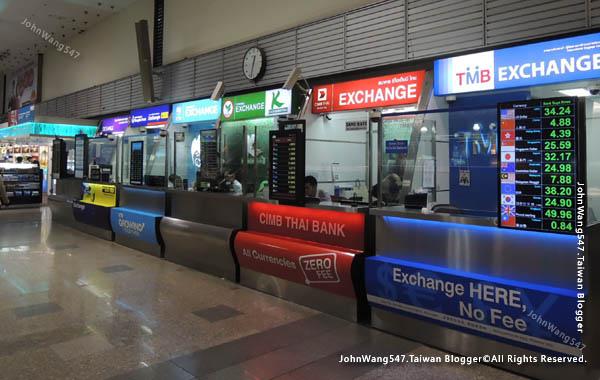 曼谷廊曼機場Don Muang Airport換泰銖1