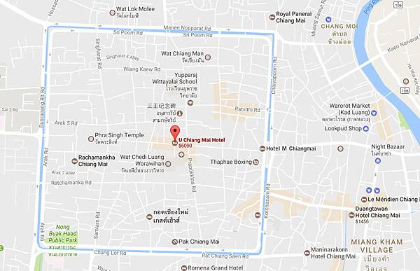 U Chiang Mai Hotel old city MAP