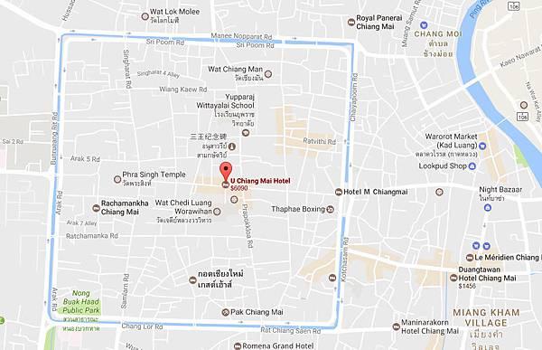 U Chiang Mai Hotel old city MAP