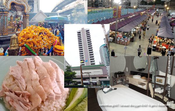 曼谷最後一天行程四面佛水門市場