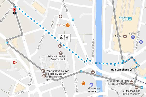 懇記雙葫蘆涼茶舖@曼谷中國城區MAP