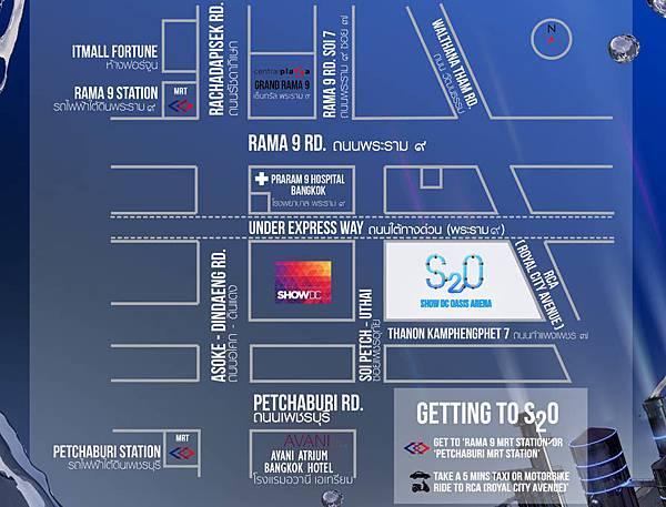 S2O Songkran Music Festival 2017 Show DC Oasis Arena MAP