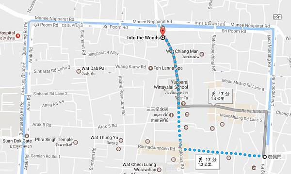 Into the Woods, Muang Chiang Mai map.jpg