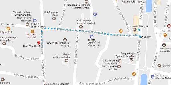 清邁Blue Shop@Kad Klang Wiang商場MAP
