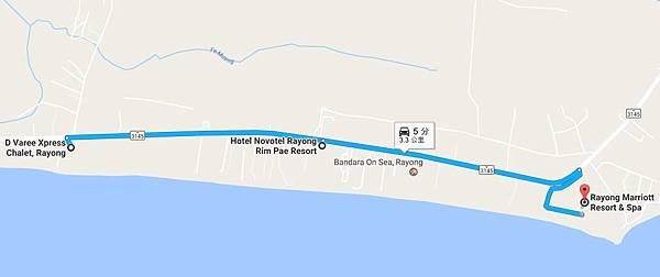 Rayong Chalet Resort、Novotel Rayong Rim Pae Resort、Rayong Marriott Resort