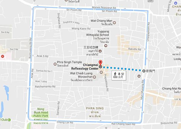 Chiangmai Reflexology Center maP