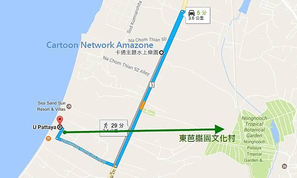 Pattaya 卡通主題水上樂園+東芭樂園MAP.jpg