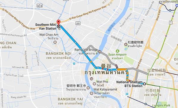 Sai Tai Gao(Pinklao)@Southern Mini Van Station map