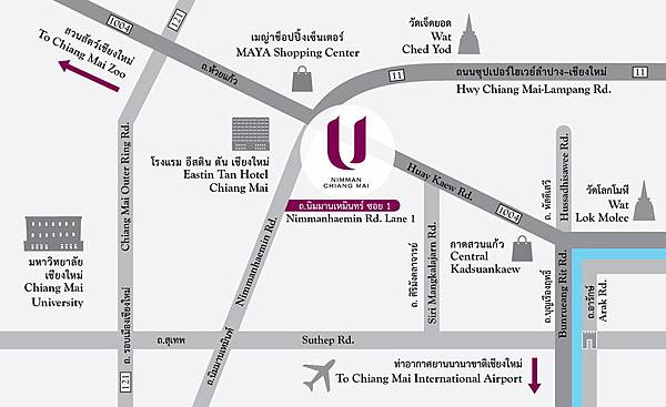 U Nimman Hotel map