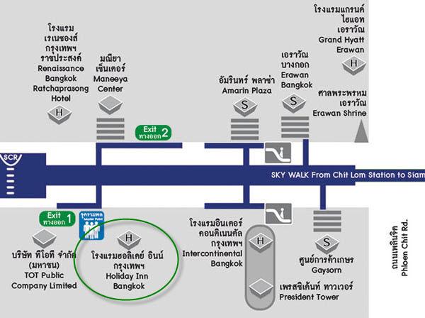 Holiday Inn Bangkok Hotel Chit Lom map.jpg