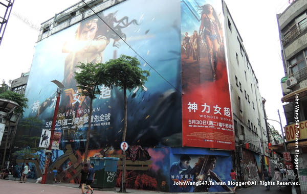 Wonder Woman神力女超人電影彩繪牆 西門町
