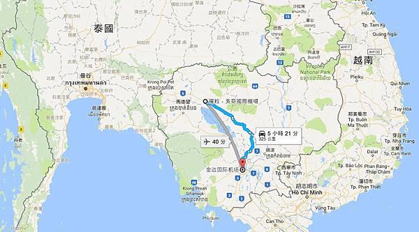 柬埔寨REP暹粒-吳哥國際機場-柬埔寨金邊機場map