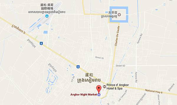 Angkor Night Market MAP