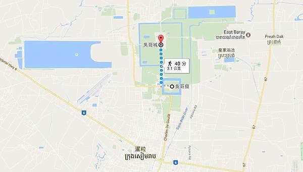 Angkor(吳哥城,吳哥窟)map