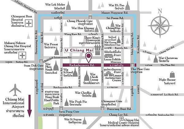 U Chiang Mai hotel MAP