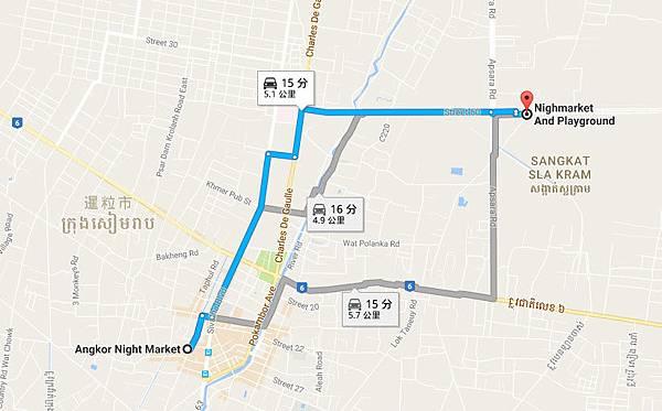 Angkor Night Market MAP