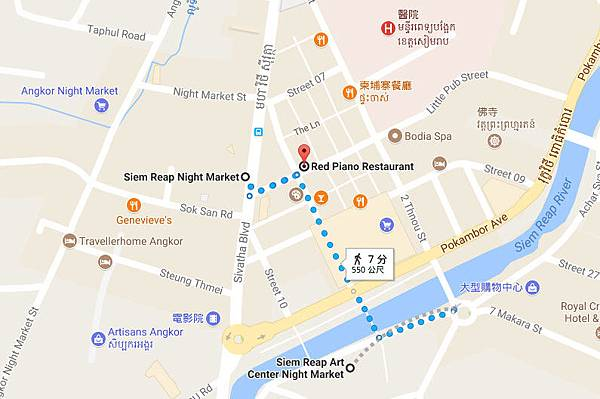 Angkor Siem Reap Night Market MAP
