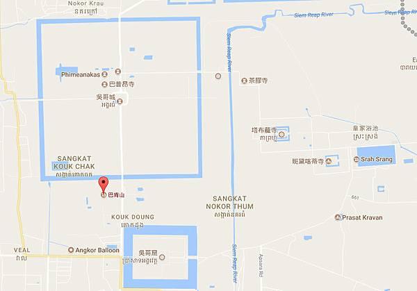 巴肯山寺遺蹟 Phnom Bakheng MAP