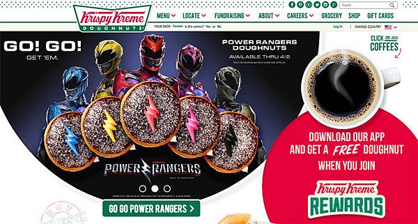 power rangers Krispy Kreme Doughnuts