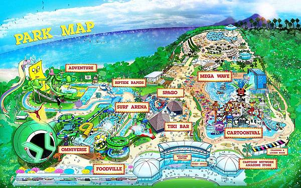 Cartoon Network Amazone Waterpark Pattaya MAP