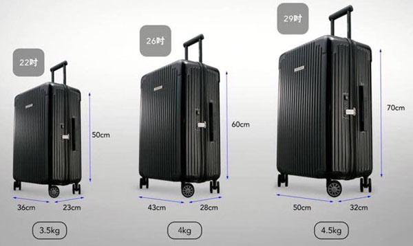 行李箱大小22吋26吋29吋