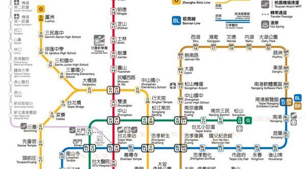 台北捷運網絡圖Taipei Rapid Transit Route
