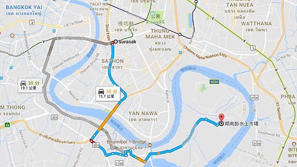 Surasak to Bang Nam Pheung Floating Market MAP.jpg