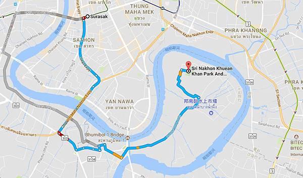 Surasak to Bang Krachao  MAP.jpg