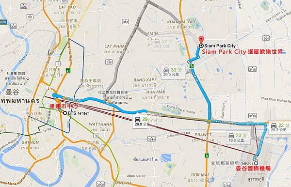 Siam Park City MAP