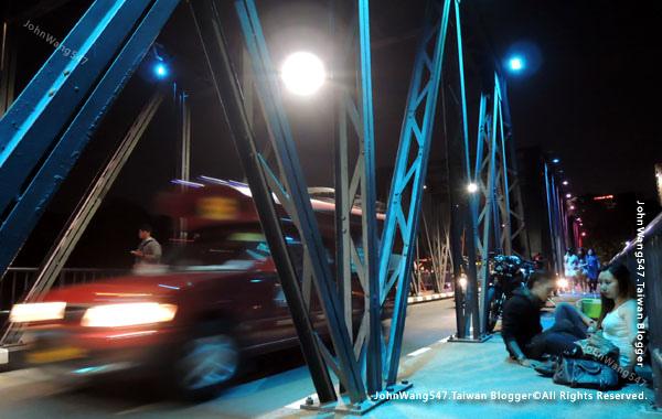 清邁鐵橋Iron Bridge夜景0