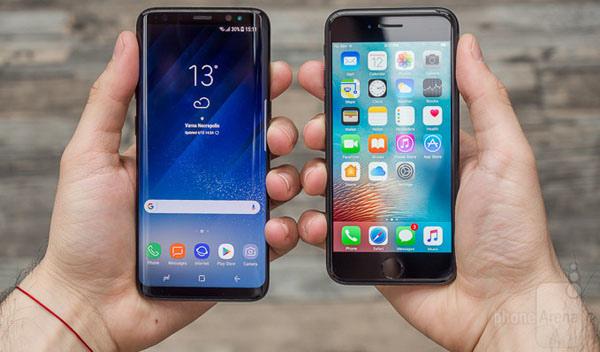 Galaxy S8 vs Apple iPhone 7