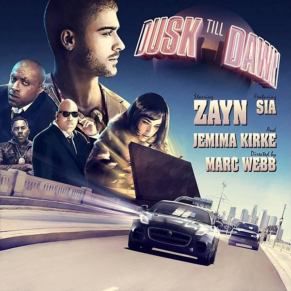 Dusk_Till_Dawn_Zayn Malik Sia Poster