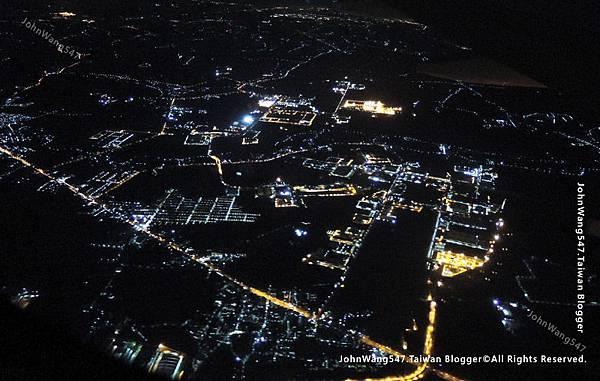 紅眼航班夜景燈光