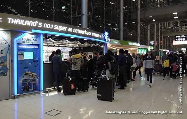 曼谷蘇凡納布機場Suvarnabhumi airport泰國SIM卡24小時