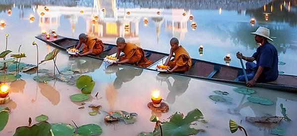 清邁遊船放水燈體驗&遊船晚宴