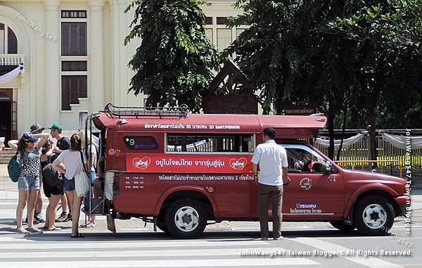 紅色雙條車Songthaew30Baht