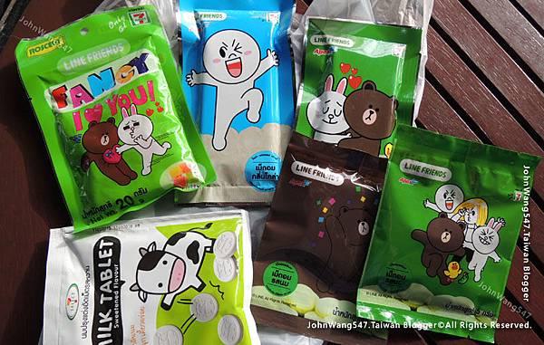 泰國7-11 LINE FRIENDS零食